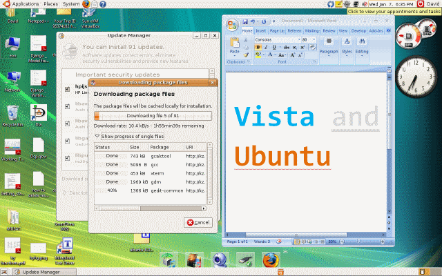 Virtualbox ubuntu monter ipo touch